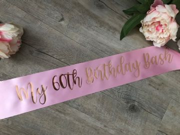 60th Birthday Sash Personalised